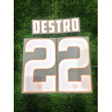 2014 - 15 AS ROMA HOME NAMESET DESTRO