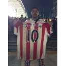 13/14 Sunderland Home Connor Wickham Match Worn Shirts BAT 2013