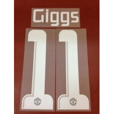 2013 - 14 MANCHESTER UNITED AWAY UCL NAMESET GIGGS
