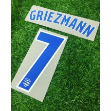 2016 - 17  ATLETICO MADRID HOME NAMESET GRIEZMANN
