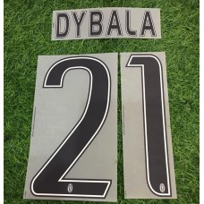 2015 - 16  JUVENTUS HOME / AWAY NAMESET DYBALA