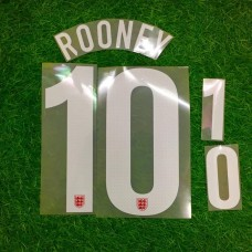 2013  ENGLAND AWAY NAMESET ROONEY