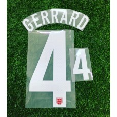 2013  ENGLAND AWAY NAMESET GERRARD
