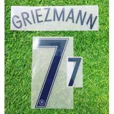 2016 - 17  FRANCE  AWAY  NAMESET GRIEZMANN