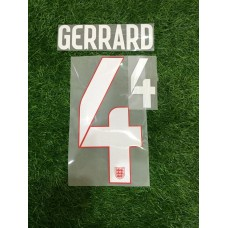 2014 -15  ENGLAND AWAY NAMESET GERRARD