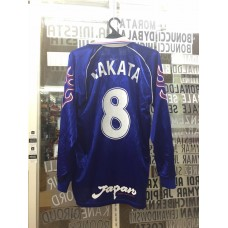 1998  JAPAN LONG SLEEVE HOME  SHIRT NAKATA