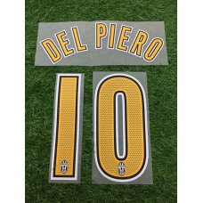 2004 - 06  JUVENTUS HOME NAMESET DEL PIERO