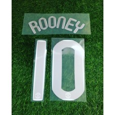 2007 - 08 MANCHESTER UNITED HOME UCL  NAMESET ROONEY