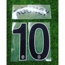 2010 - 11 MANCHESTER UNITED AWAY  UCL NAMESET ROONEY
