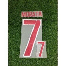 2016 - 17 SPAIN  AWAY NAMESET MORATA