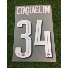 ORIGINAL ARSENAL 2017-18 HOME / AWAY CUP NAMESET COQUELIN
