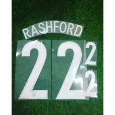 2016 -17  ENGLAND AWAY NAMESET RASHFORD