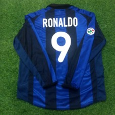 2001-02 INTER MILAN HOME PLAYER ISSUE SHIRT RONALDO