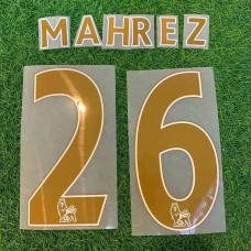 2015 - 16 LEICESTER CITY AWAY EPL NAMESET MAHREZ