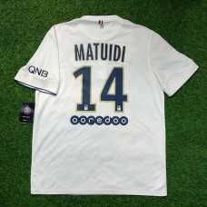 2014 - 15 PARIS SAINT-GERMAIN AWAY SHIRT MATUIDI