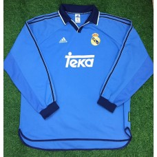 1999 - 00 REAL MADRID LS PLAYER ISSUE THIRD SHIRT