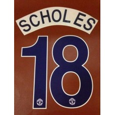 2008-09 MANCHESTER UNITED AWAY UCL NAMESET SCHOLES