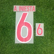 2016 - 17 SPAIN  AWAY NAMESET INIESTA